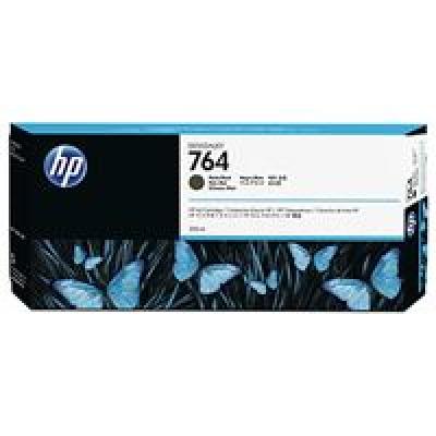HP 764 Matte Black Ink Cart, 300 ml, C1Q16A