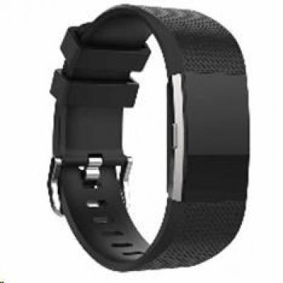 eses silikonový řemínek černý velikost L pro Fitbit Charge 2