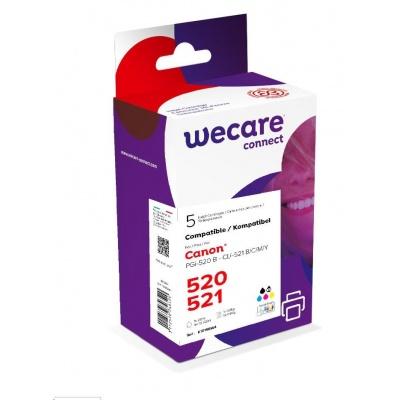 WECARE ARMOR cartridge pro CANON iP 3600 multipack (PGI520/CLI521BK/CMY) černá/black+C+M+Y+K, 1x20ml/ 4x10,5ml,