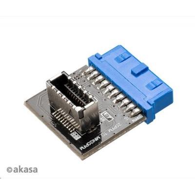 AKASA redukce AK-CBUB51-BK USB 3.0 19-pin MB header na USB 3.1 20-pin Key A connector