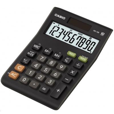 CASIO kalkulačka MS 10 B, černá, stolní, desetimístná