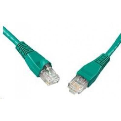 Solarix Patch kabel CAT5E UTP PVC 7m zelený snag-proof C5E-114GR-7MB