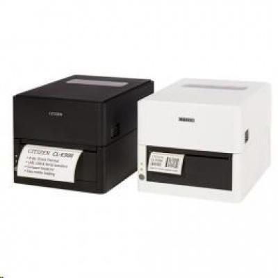 Citizen CL-E303, 12 dots/mm (300 dpi), cutter, USB, RS-232, Ethernet, black