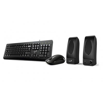 GENIUS KMS U130 - kancelářský set klávesnice, myš a reproduktory