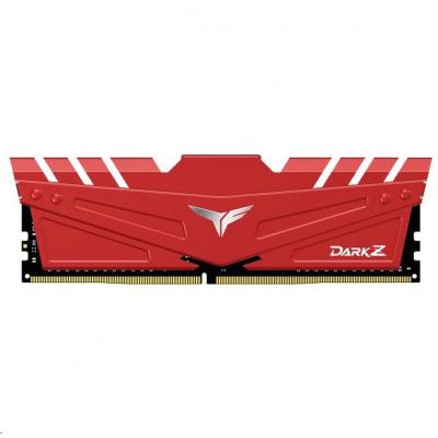 DIMM DDR4 32GB 3000MHz, CL16, (KIT 2x16GB), T-FORCE DARK Z, Red