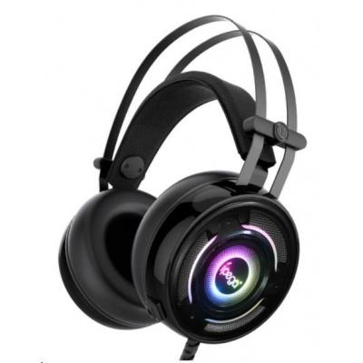 iPega herní stereo sluchátka s mikrofonem PG-R008, 3,5 mm jack, černá