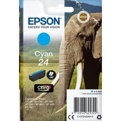 "EPSON ink bar Singlepack ""Slon"" Cyan 24 Claria Photo HD Ink"