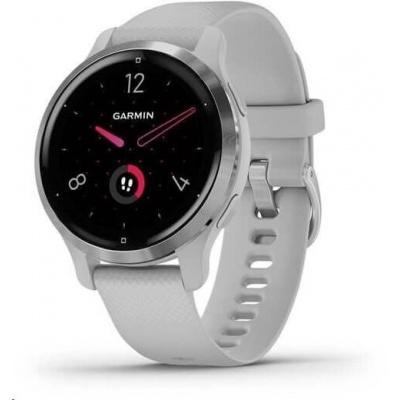 Garmin GPS sportovní hodinky Venu2S Silver/Gray Band