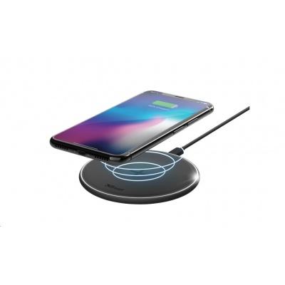 TRUST bezdrátová nabíječka Qylo Fast Wireless Charging Pad 7.5/10W - black