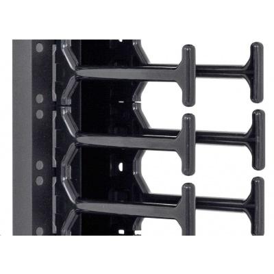 TRITON vertikální vyvazovací panel 42U, dvouřadý, pro rozvaděče šířky 800mm z řady RMA, RZA, RDA, RTA, RYA, černý