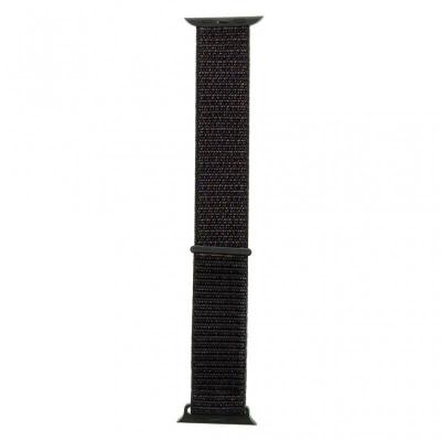 Tactical 538 Látkový Řemínek pro Apple Watch 1/2/3/4/5/6/SE 42/44mm Black
