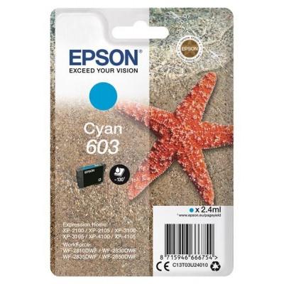 """EPSON ink bar Singlepack """"Hvězdice"""" Cyan 603 Ink"""