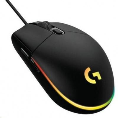 Logitech herní myš Gaming Mouse G203 LIGHTSYNC 2nd Gen, EMEA, USB, black