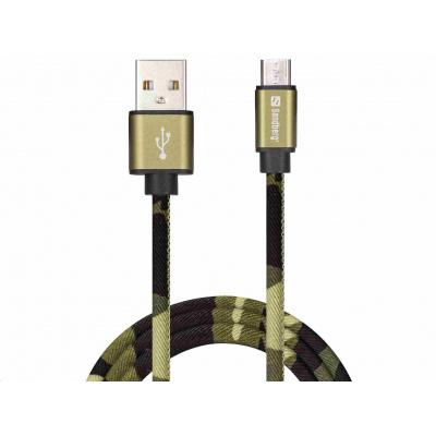 Sandberg datový kabel USB-A -> micro USB, délka 1m, Camouflage