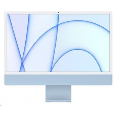 Apple 24-inch iMac with Retina 4.5K display: M1chip with 8-core CPU and 8-core GPU, 512GB - Blue