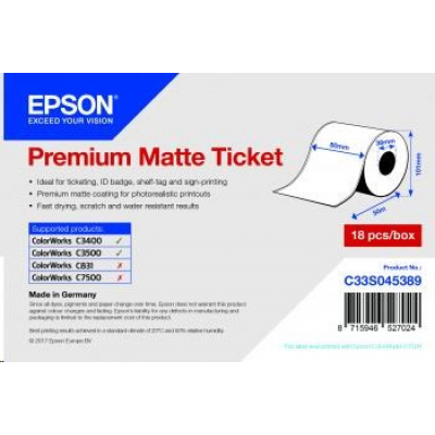 Epson Receipt- / voucher roll (endless), normal paper, 80mm