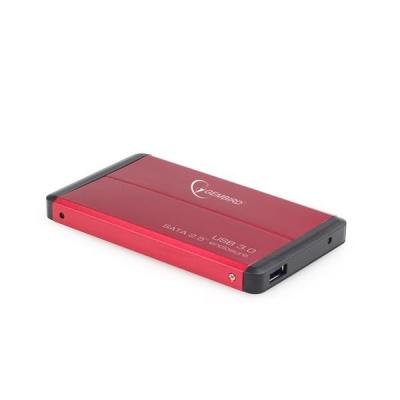 """GEMBIRD externí box pro 2.5"""" zařízení, USB 3.0, SATA, červený"""