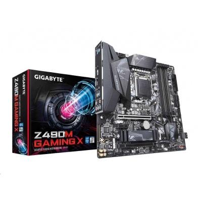 GIGABYTE MB Sc LGA1200 Z490M GAMING X, Intel Z490, 4xDDR4, VGA, mATX
