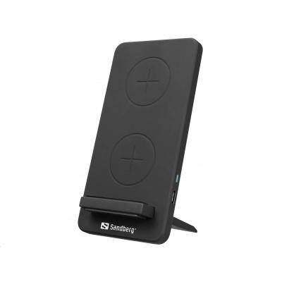 Sandberg stojánek s bezdrátovým nabíjením Qi, USB-C, 10W