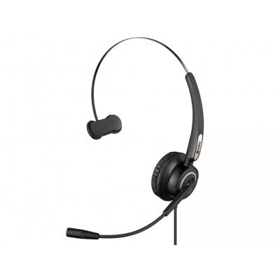 Sandberg náhlavní souprava Pro s mikrofonem, USB, mono, černá