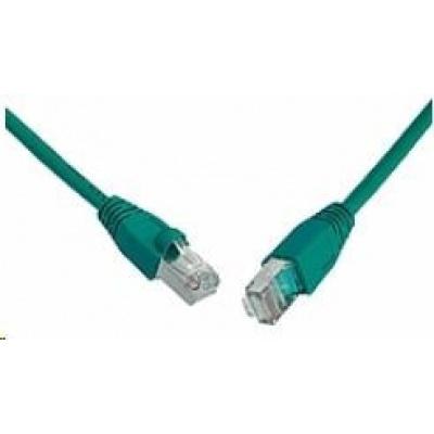 Solarix Patch kabel CAT6 SFTP PVC 0,5m zelený snag-proof C6-315GR-0,5MB