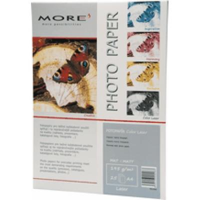 Hladený Color Laser papier, 195g/m2, matt, hladený, pre farevné laserové tlačiarně, A4,25 listov
