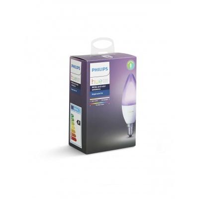 PHILIPS Hue White and Color Ambience, žárovka svíčková 6W E14 B39 DIM ZB+BT