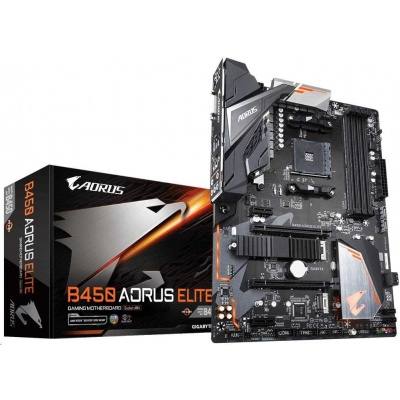 GIGABYTE MB Sc AM4 B450 AORUS ELITE, AMD B450, 4xDDR4, VGA