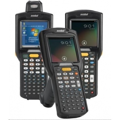 Zebra MC3200 Premium, 1D, BT, Wi-Fi, num., Gun, disp., IST, WEC 7