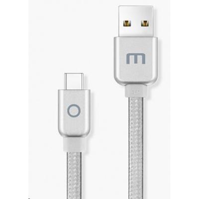 MEIZU datový nabíjecí kabel USB - USB-C, 120 cm, stříbrná