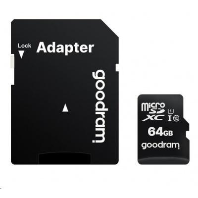 GOODRAM MicroSDXC karta 64GB M1AA, UHS-I Class 10, U1 + adaptér