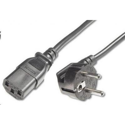 PREMIUMCORD Kabel napájecí 230V/10A, zahnutá vidlice,  2m