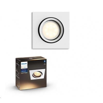 PHILIPS MILLISKIN Zapuštěné bodové svítidlo, čtvercové, Hue White ambiance,230V,1x5.5W GU10, Bílá,rozšíření (5042131P9)