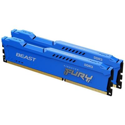 DIMM DDR3 16GB 1600MHz CL10 (Kit of 2) KINGSTON FURY Beast Blue