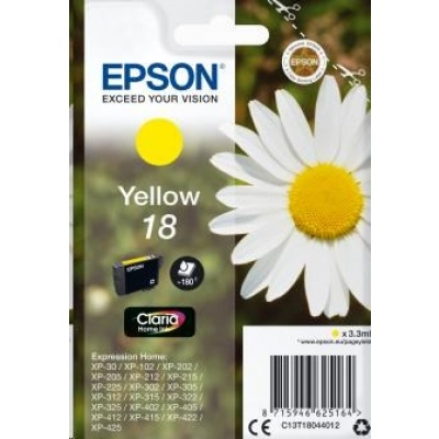 "EPSON ink bar Singlepack ""Sedmikráska"" Yellow 18 Claria Home Ink"