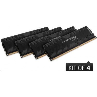 DIMM DDR4 32GB 3200MHz CL16 (Kit of 4) XMP KINGSTON HyperX Predator