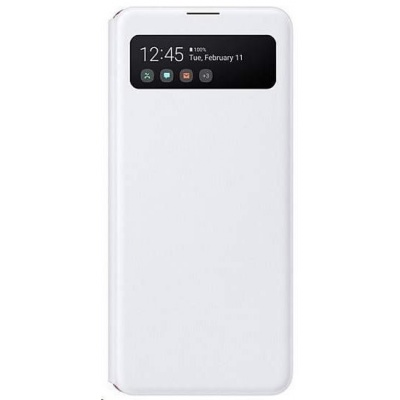 Samsung pouzdro S-View EF-EA415PWE pro Galaxy A41, bílá