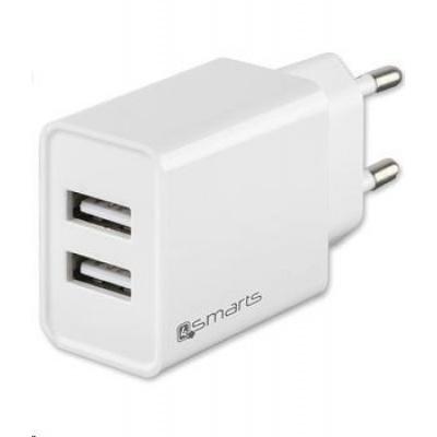 4smarts síťová nabíječka VoltPlug 12 W, bílá