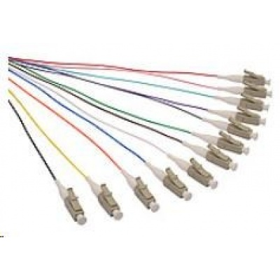 Solarix Pigtail 50/125 LCupc MM OM4 1,5m, balení 12ks - barvy SXPI-LC-UPC-OM4-1,5M-12PCK