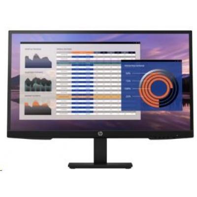 "HP LCD P27h G4 27"" (1920x1080, IPS w/LED,250,1000:1, 5ms,matný,VGA,DP 1.2,HDMI 1.4,flicker-free, low blue light, 2x2W)"