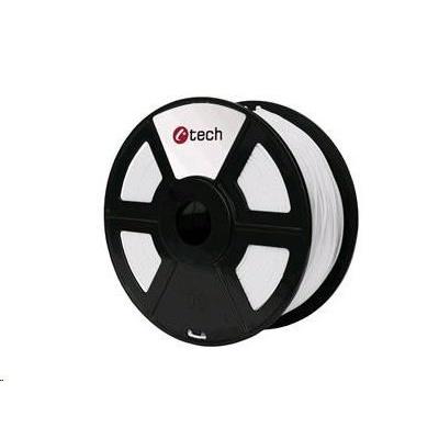 C-TECH Tisková struna (filament) HIPS, 1,75mm, 1kg, bílá