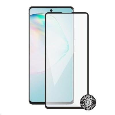 Screenshield ochrana displeje Tempered Glass pro SAMSUNG A915 Galaxy A91, full cover, černá