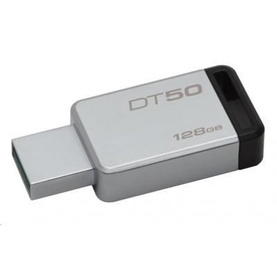 Kingston 128GB DataTraveler DT50 (USB 3.0) - kovový/černý