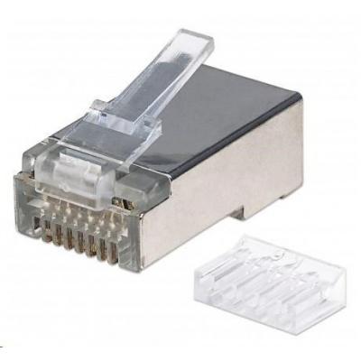 Intellinet konektor RJ45, Cat6, stíněný STP, 50µ, drát i lanko, 90 ks v nádobě