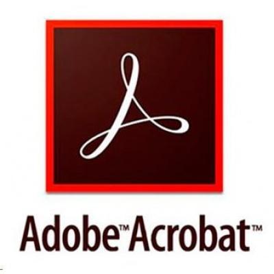 Adobe Acrobat Pro DC MP ML (+CZ) COM TEAM RENEWAL L-1 1-9 (12 měsíců)