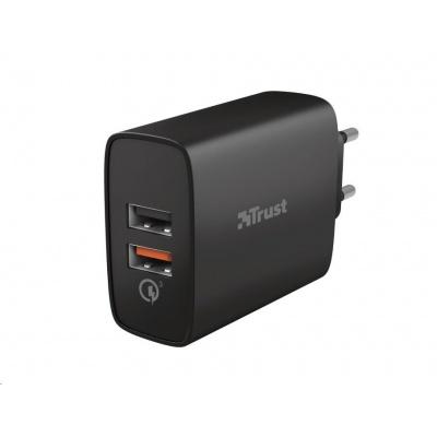 TRUST nabíječka Qmax 30W Ultra-Fast Dual USB Wall Charger with QC3.0