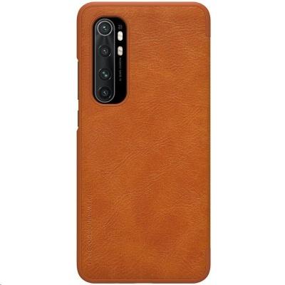 Nillkin Qin Leather Case pro Xiaomi Mi Note 10 Lite Brown