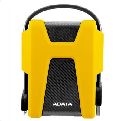 """ADATA Externí HDD 2TB 2,5"""" USB 3.1 AHD680, žlutý (gumový, nárazu odolný)"""