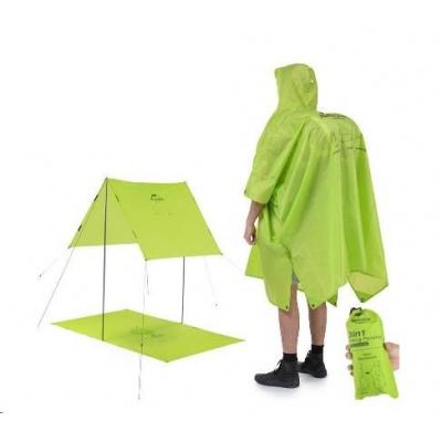 Naturehike 3v1 poncho 210T 300g - zelené