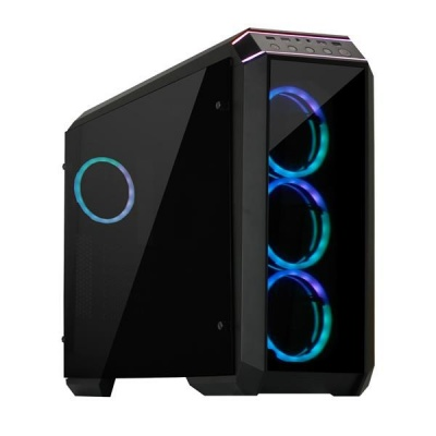 CHIEFTEC skříň Miditower STALLION II, GP-02-OP Black, 4x RGB Rainbow Fan, 2 x USB 3.0/1x USB 2.0, side glass